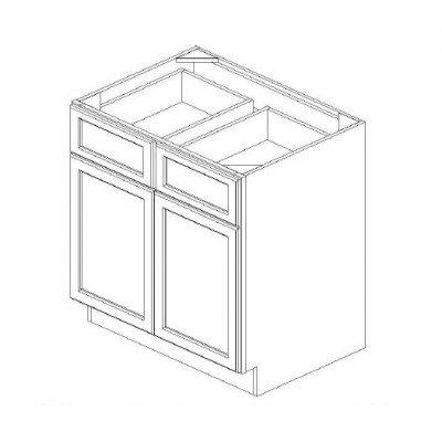 Doube Door & Drawer Base