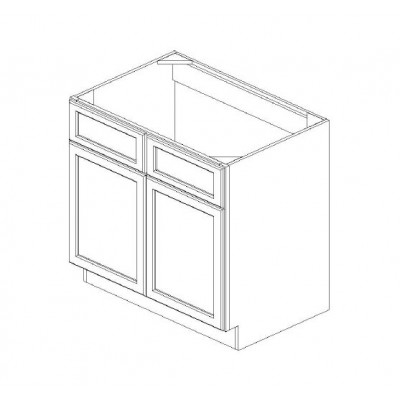Sink Base - Double False Drawer Face